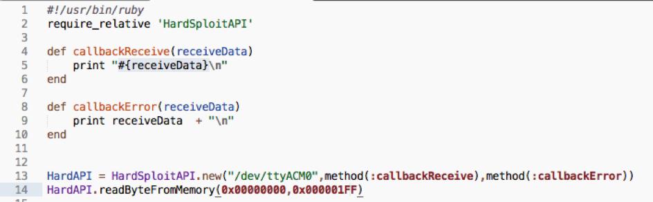 API Ruby Dump code